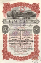 Brazil Railway Co. Акция в $100, 1912 год.