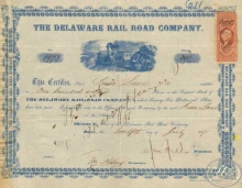 Junction and Breakwater Railroad Co. $1000, 1899 год.