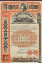 New York and Putnam Railroad Co. $1000, 1894 год.