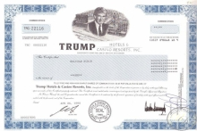 Trump Hotel and Casino Resorts Inc.,акция, 1998 год.
