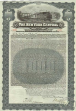 New York Central Railroad Co. $1000, 1913 год.