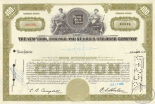 New York Chicago and St.Louis Railroad Co. $1500, 1958 год.