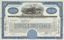 New York Chicago and St.Louis Railroad Co. $2500, 1947 год.