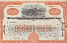 New York Chicago and St.Louis Railroad Co. $5000, 1928 год.