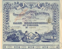 Campagnie Generale de Traction. Пай, 1897 год.
