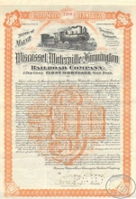 Wisscasset, Waterville and Farmington Railroad company. Заем в $500, 1901 год.